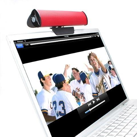 PC-Lautsprecher USB / Soundbar für Ihren Computer / Laptop Stereo Speaker für Lenovo Miix Ideapad HP Notebook Asus Yoga Book MacBook Pro Air Acer Odys Dell MacBook und mehr - Von (Pc Stereo Lautsprecher)