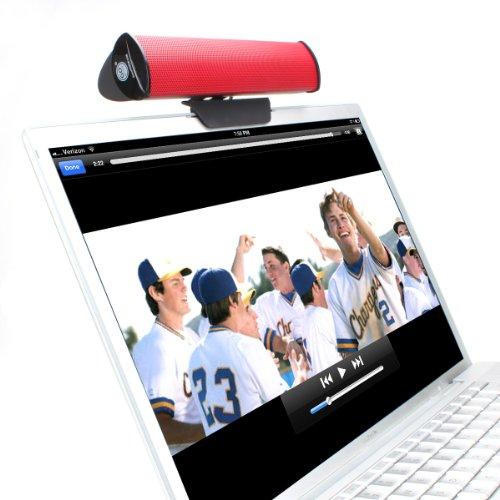 Tragbar USB 2.0 Lautsprecher Anschneiden Laptop Stereo Soundbar mit 2 Treibern und herausnehmbarem Tischständer für Lenovo Miix Ideapad HP Notebook Asus Yoga Book Acer Odys Dell MacBook und mehr - Von Gogroove