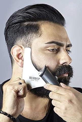 Gabarit premium en acier inoxydable pour la barbe | Styling pour la barbe Produit en Allemagne | rasage - modèle pour votre soin quotidien de la barbe | tondez, rasez e donnez-la simplement de style | pour une barbe exacte | contours parfaits | symétrie idéale | avec un vidéo d