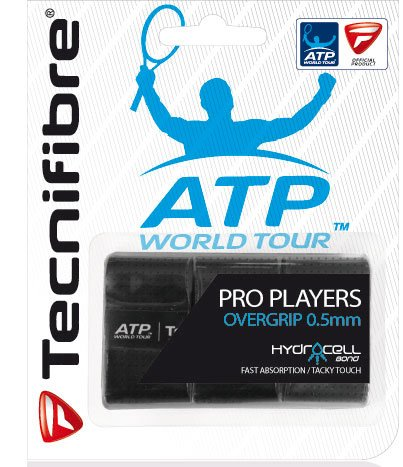 Tecnifibre ATP Pro Players Overgrip - 3 Pack, Color- Black