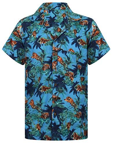 a9439fa7 Lion Tiger Shirt Hawaiian Shirt Mens Loud Aloha Floral Zoo Stag Loud Party  S-XXL