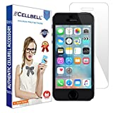 CELLBELL Tempered Glass Screen Protector For Apple iPhone 5 5s With Installation Kit