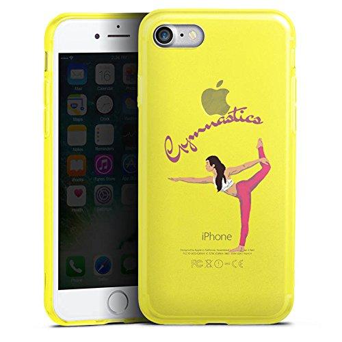 Apple iPhone 8 Silikon Hülle Case Schutzhülle Gymnastic ohne Hintergrund Hobby Silikon Colour Case gelb