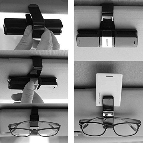THEE Doppelt Auto Brillenhalter Karten Clip Brillenablage Brillenhalterung für Sonnenblende