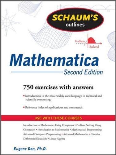 Schaum's Outline of Mathematica, Second Edition (Schaum's Outline Series) por Eugene Don