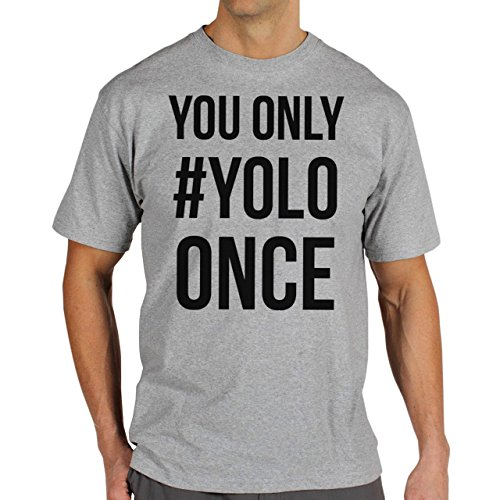 YOLO Swag Black And White You Only YOLO Once No Back Herren T-Shirt Grau