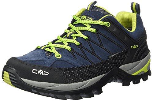 CMP Herren Rigel Low Trekking-& Wanderhalbschuhe, Grau (Asphalt-Lime Green 83bd), 42 EU