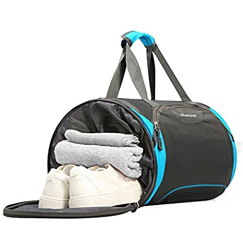 Travel Duffel Bag with Shoe Compartment,Trendsetter Overnight Bag Swimming Gym Bag