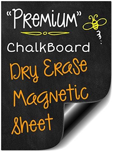 BIGTIME 40,6cm Flexibles Dry Erase Kreidetafel schwarz magnetisch Design | Nachricht Board für Kühlschrank | Verwendung als Wochenplaner Kalender | Make Your Own Verhalten oder Belohnungstafel | Magnet Bettlaken ist schneidbar