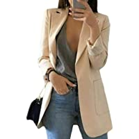 Hanmax, giacca casual da donna, a maniche lunghe, giacca da ufficio