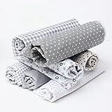 King Do Way 7 retales de algodón precortado para patchwork, varios diseños, gris, 45 x 45cm
