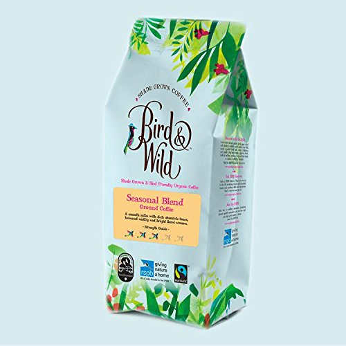 Bird & Wild Seasonal Blend Medium Roast, Fairtrade Organic Shade Grown Bird Friendly Coffee, Ground Coffee, 200g net weight 51VbxJmNFYL