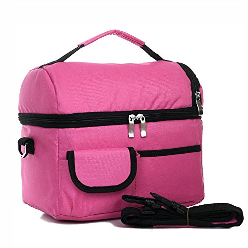 candoran Isolierte Kühltasche Tasche für Familie Reise BBQ Camping Picknick lunch-8l groß, wasserdicht Kapazität Fresh Ice Pack Lunch Box Lunch Container Pink (Jogger Radio)