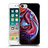 Head Case Designs Rote Acryl Giessende Planeten Ruckseite Hülle für iPhone 7 / iPhone 8