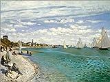 Posterlounge Alu Dibond 80 x 60 cm: Regatta at Sainte-Adresse by Claude Monet