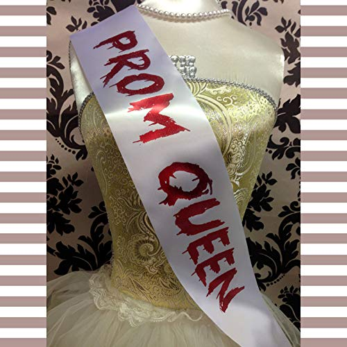All Tied Up UK Ltd - PROM QUEEN SASH Pageant Beauty Queen Halloween Fancy Dress Outfit Cheap Costume (Halloween Prom Queen Costume)