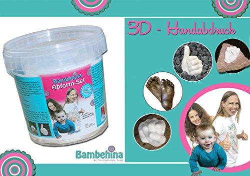 Bambehina Handabdruck-Set für Baby- und Kinderhände oder Fuß - im praktischen Abformeimer