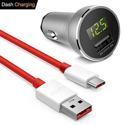OnePlus Caricabatterie da auto, iMangoo OnePlus Adattatore Dash compatibile con OnePlus USB C Dash cavo 1m/3.3ft cavo dati ad alta velocità Dash cavo di ricarica compatibile con OnePlus 5, 5T, 3, 3T
