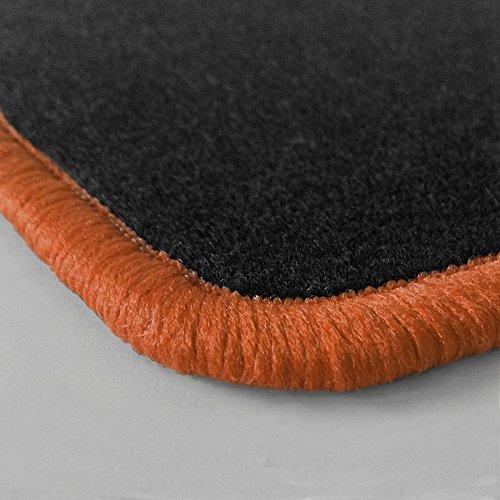 Preisvergleich Produktbild Randfarbe nach Wahl ! Passgenaue Fußmatten aus Nadelfilz mit kupferfarbigem Rand (520) für Honda Legend 3 KA9 Baujahr 2000-2006
