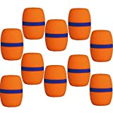 10 Stück Hand Bühne Mikrofon Windschutzscheibe Schaumstoff Mikrofonabdeckung Karaoke-rot - Orange