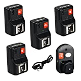 #7: Baoblae PT-04GY 4 CH Channels Wireless/Radio Flash Trigger+ 4 Receivers for Canon Nikon DSLR Camera