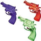 Wasserpistole WP 150 in Revolver-Form, ca 5m-Reichweite, 2-Stück: Soaker Wassergewehr Super Spritzpistole Kindergeburstag Badespaß