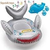 SHISENG Bébé Flotteur de Natation avec siège Nouveau-né bébé Nageur Requin Anneau Soins de la Peau PVC Infant Training bébé Piscine Piscine ou Plage activités Fit pour 6 Mois à 36 Mois