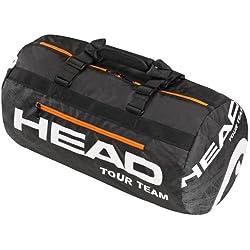 Head Tour Team Club - Bolsa de tenis negro schwarz/weiß/orange Talla:56 x 30.5 x 30.5 cm