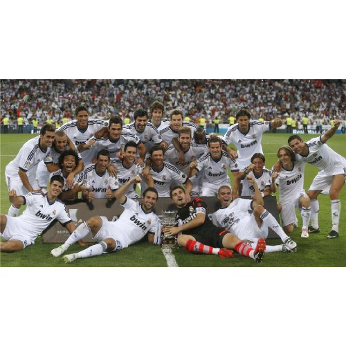 Real Madrid Poster On Silk <111cm x 60cm, 44inch x 24inch> &#8211; Cartel de Seda &#8211; 1D85BF