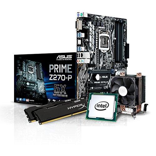 Kiebel Aufrüst-Bundle (v7): [184438] Intel Core i7-7700K Quadcore (4x4.2 GHz) | 16GB DDR4-2666 MHz | Intel HD Grafik | Sound | ASUS | komplett vormontiert und getestet