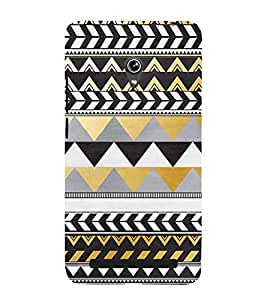PrintVisa Designer Back Case Cover for Asus Zenfone 5 A501CG (Zig zag Design :: Triangle Design :: Stylish Color Design :: Trendy Design wallpaper :: Nice Color Design)