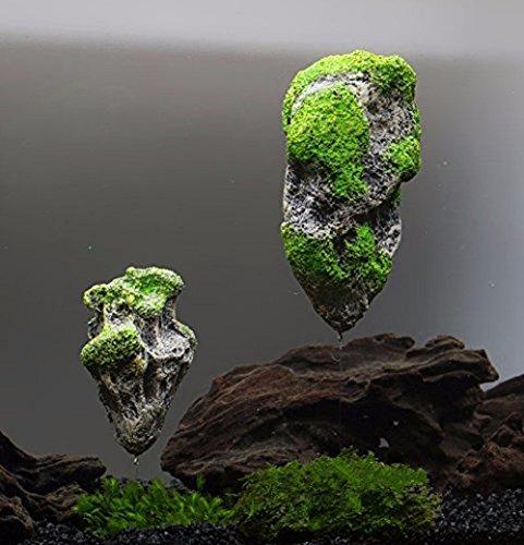 Fliegender Stein Pandora Avatar Aquariumdekoration Künstlich Grün Grau
