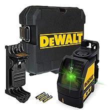DEWALT B07G4N844W DW088CG 2 Way Self-Levelling Cross Line Green Laser