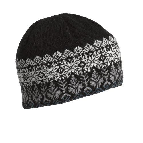 Schildkröte Fell Damen Merino Wolle Knit Fleece Senja Beanie, Herren, schwarz (Nordic Knit Hat)