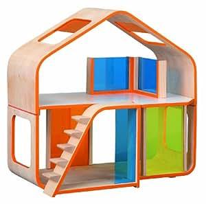 Plan Toys - Jouet en bois - Maison de poupées contemporaine, en bois