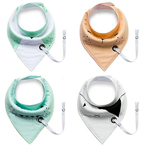 bonways-bebe-unisexe-bandana-triangle-absorbants-bavoirs-avec-bebes-button-dribble-echarpe-coton-de-