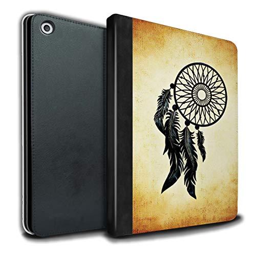 eSwish - Libreta de Piel sintética con Funda, IP-TSB, colección de Arte de atrapasueños Old Fashion/Black Feathers Apple iPad 9.7 2018/6th Gen