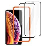 ZOVBR Protective Film with 3D Full Coverage Soft Curve Unbreakable Edge Compatible for iPhone XS Max, 6.5 inch 2 Pck-Black