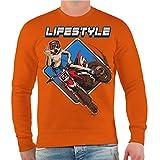 Männer und Herren Pullover Motocross Freestyle (mit Rückendruck) Größe S - 10XL