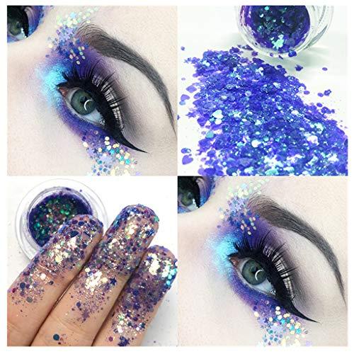 Lidschatten Glitzer Pailletten Augen Schatten Eyeshadow Pulver Schimmer Glitter Kosmetik Make-Up Eyeshadows Palette Glanz Lidschatten-Aufkleber Party Bühne Von Frashing