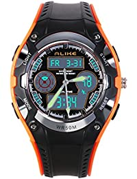 NICERIO Reloj de pulsera para niños estudiantes igualmente impermeable niños niñas deporte reloj Digital con alarma cronómetro
