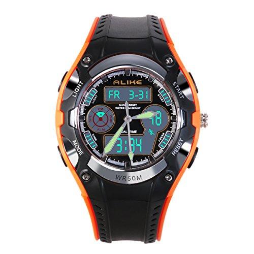 NICERIO Reloj de pulsera para niños estudiantes igualmente impermeable niños niñas deporte reloj Digital con alarma cronómetr