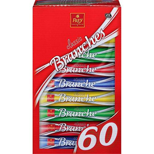 Preisvergleich Produktbild Schokoladenriegel - Milchschokolade - 'Branches Classic 60er' von Chocolat Frey Schweiz - 1.62 Kg,  aus dem Traditionshaus Frey