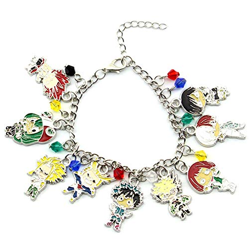 74b4eb998 Templom SIX My Hero Academia Anime Manga Charm Bracelet Cosplay Wristband  for Kids Teens and Anime