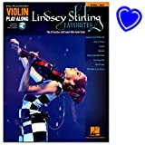 Lindsey Stirling Favorites - Violin Play-Along vol. 64 - Notenbuch + Online-Audio mit bunter herzförmiger Notenklammer