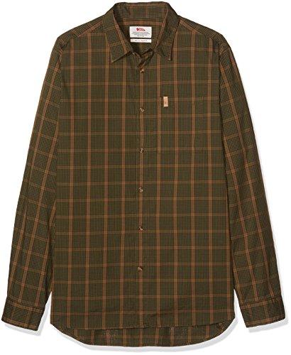 Fjällräven Herren Kiruna Shirt Ls Oberhemd Dark Olive