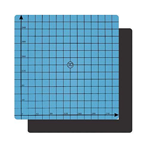 "HAWKUNG 3D Drucker Plattformen 220 mm x 220 mm (8.66\""x8.66\"") Magnetik Drucker Oberflächen Kompatibel mit Creality ender 3, ender 3 Pro, Ender 3 3X, ANET A8"