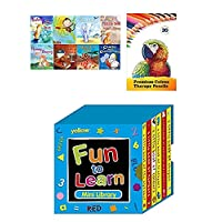 8 Story Book Collection Gift Set with Star Online Colouring Pencils and 6 Mini Library