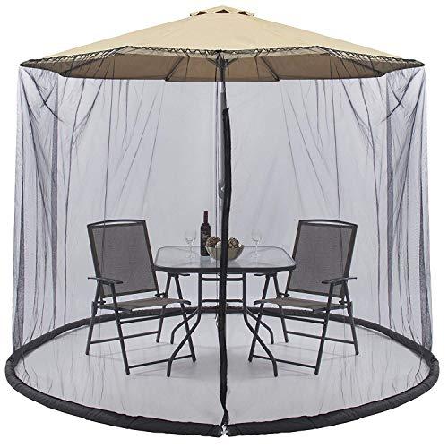 Parkland® - Mosquitera de malla para sombrilla de jardín al aire libre, convierte tu sombrilla en un carpa