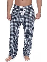 3c4e372ead Cargo Bay Mens 100% Cotton Pyjama Bed Shorts Long Check Flannel Tie Waist -  Sky